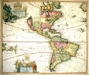Map of the Americas with California as an island - Published c. 1696 by Pieter Schenk