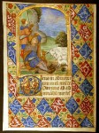 Book of Hours Leaf Shepherds - Annunciation to the Shepherds, c. 1480