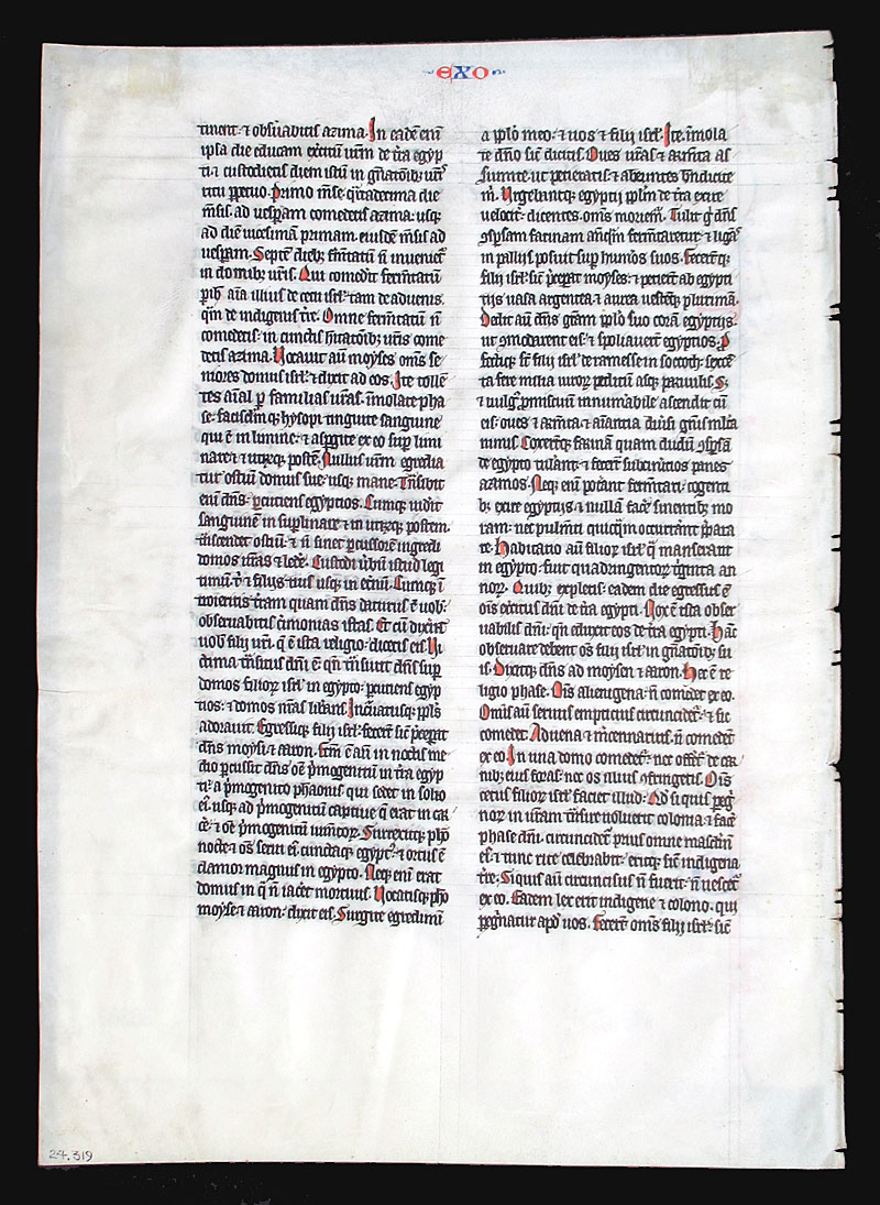 c 1275 Large Lecturn Bible Leaf - The Passover