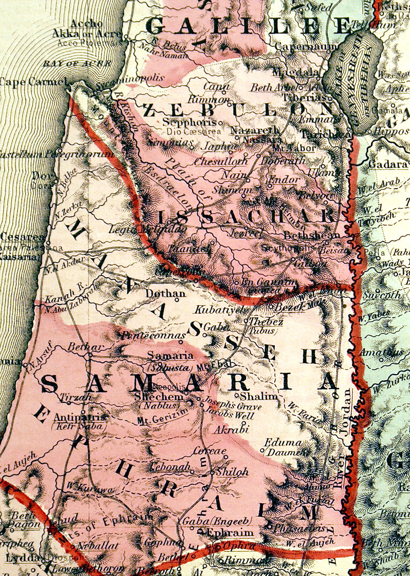 c 1864 ''Johnson's Palestine''