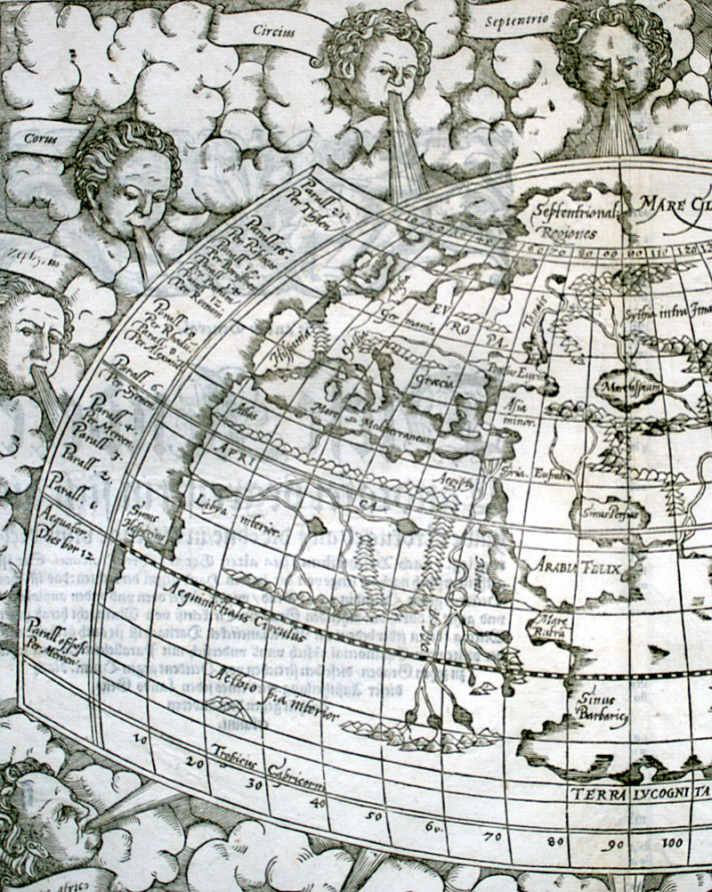 c 1588 Ptolemy World - Munster