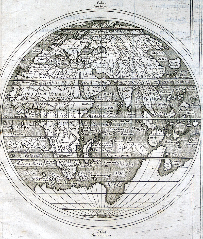 c 1598 Mercator/Rosaccio World Map