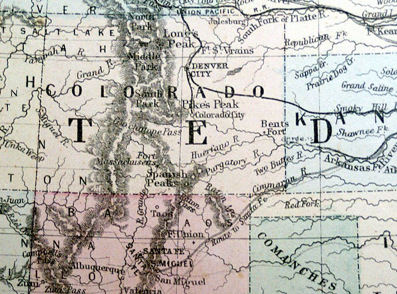 c 1872 Map of the United States - Mitchell