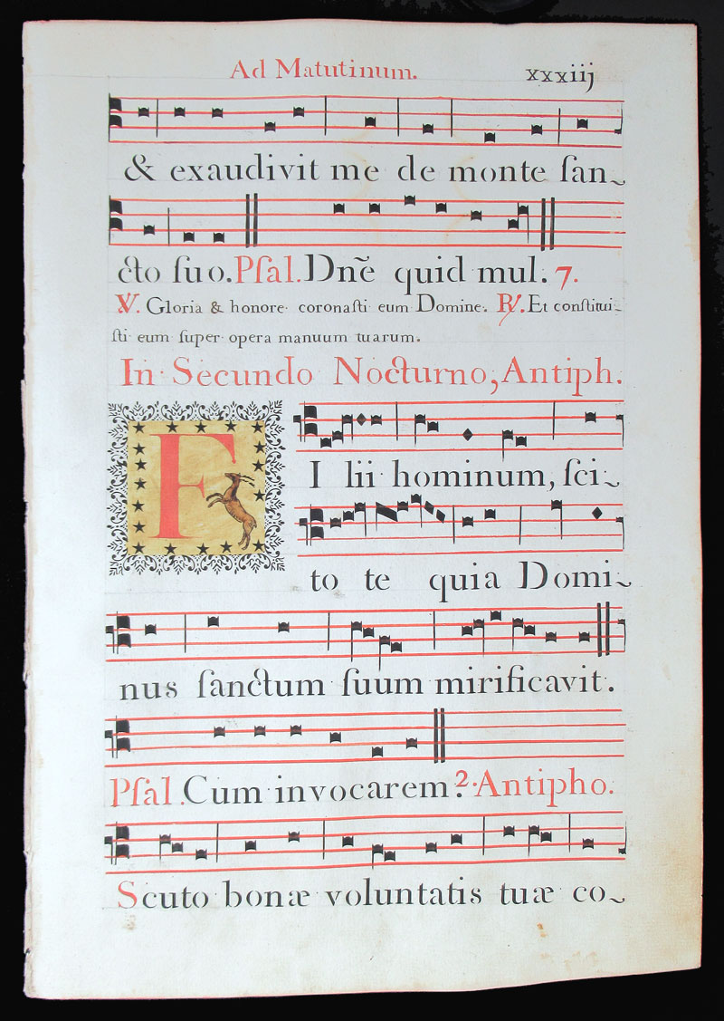 c 1778 Gregorian Chant - Italy - Decorative initials