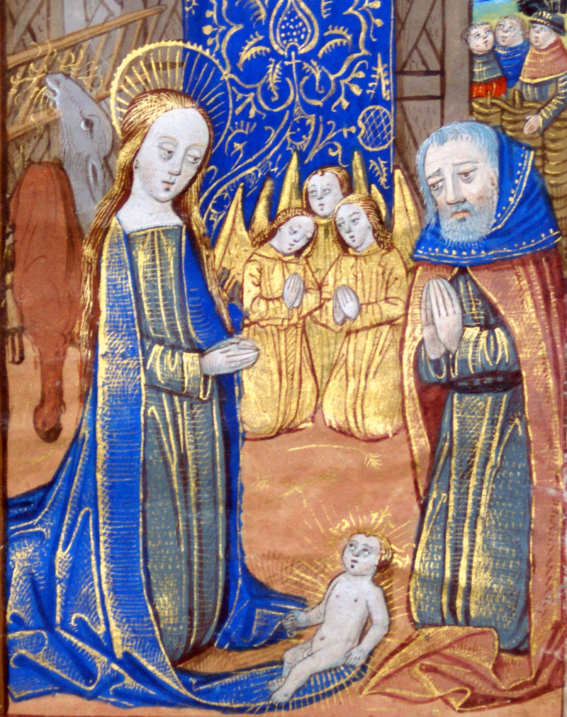 c 1490-1510 - Book of Hours Leaf - The Nativity