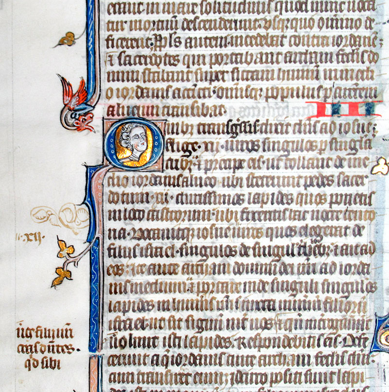 c 1275-1300 - Exceptional folio Bible leaf - Joshua