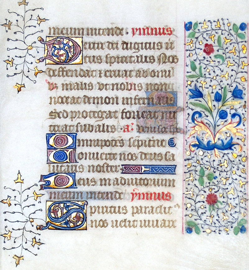 Book of Hours Leaf - c 1460 - Hours of the Holy Spirit