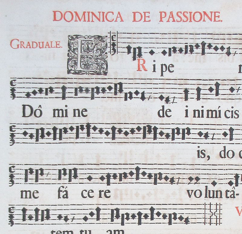 c 1671 Gregorian Chant - Passion Sunday - Hufnagel Notes