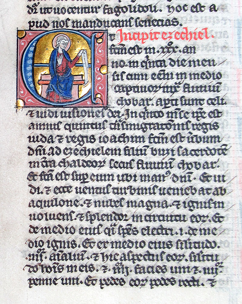 c 1247 Bible Leaf - Miniature of Ezekiel - known artist