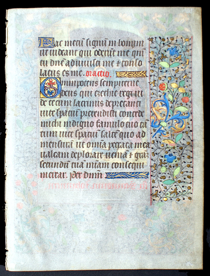 c 1470 Book of Hours Leaf - Garden of Gethsemane