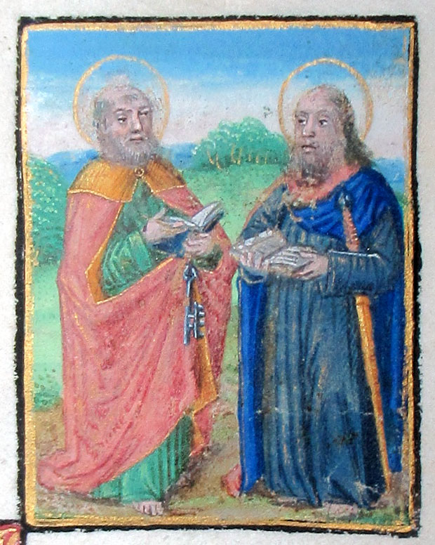 c 1480 Saints Peter & Paul - Prayerbook cutting