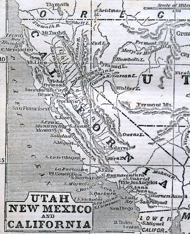 c 1851 UTAH, NEW MEXICO and CALIFORNIA  - Phelps