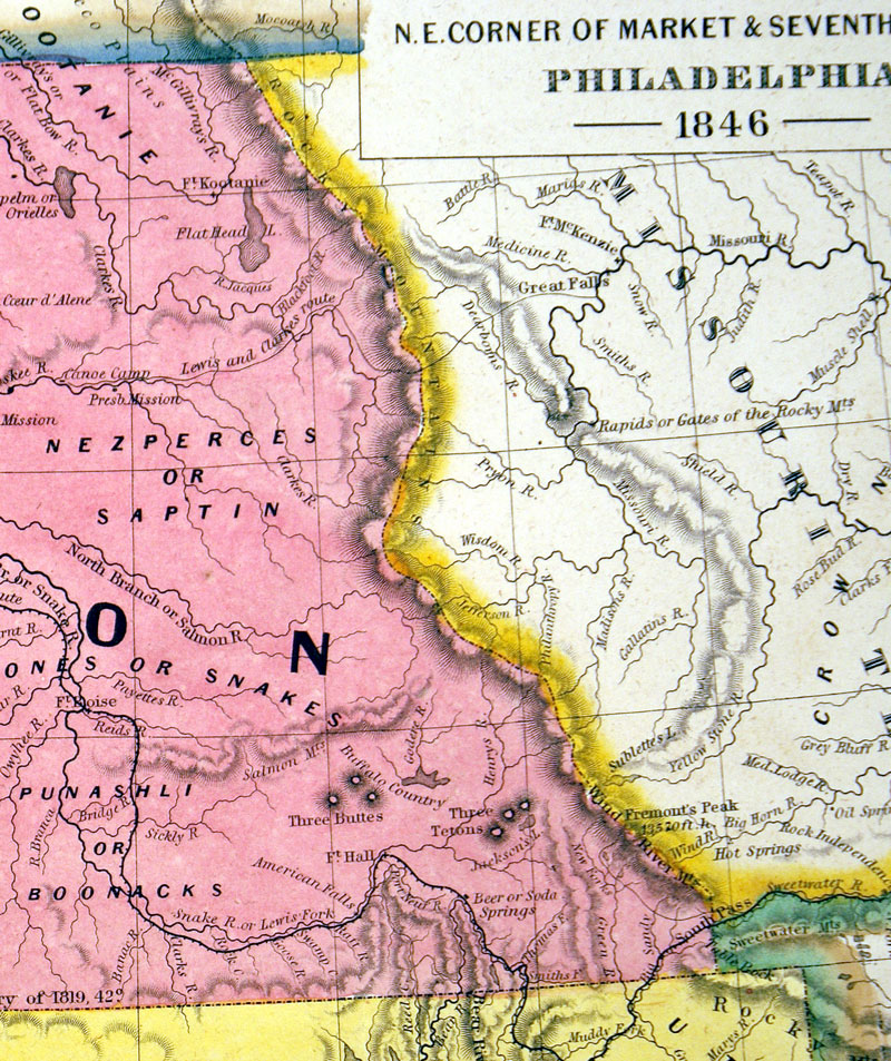 c 1846 ''Oregon and Upper California''  - Mitchell
