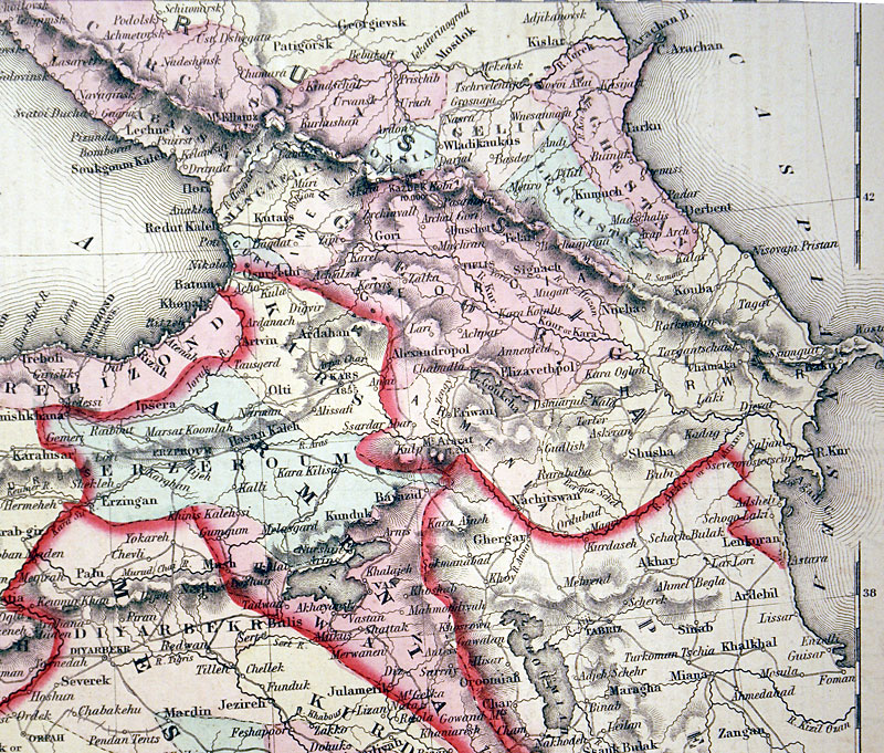 c 1855 ''TURKEY IN ASIA AND THE CAUSASIAN PROVINCES OF RUSSIA''