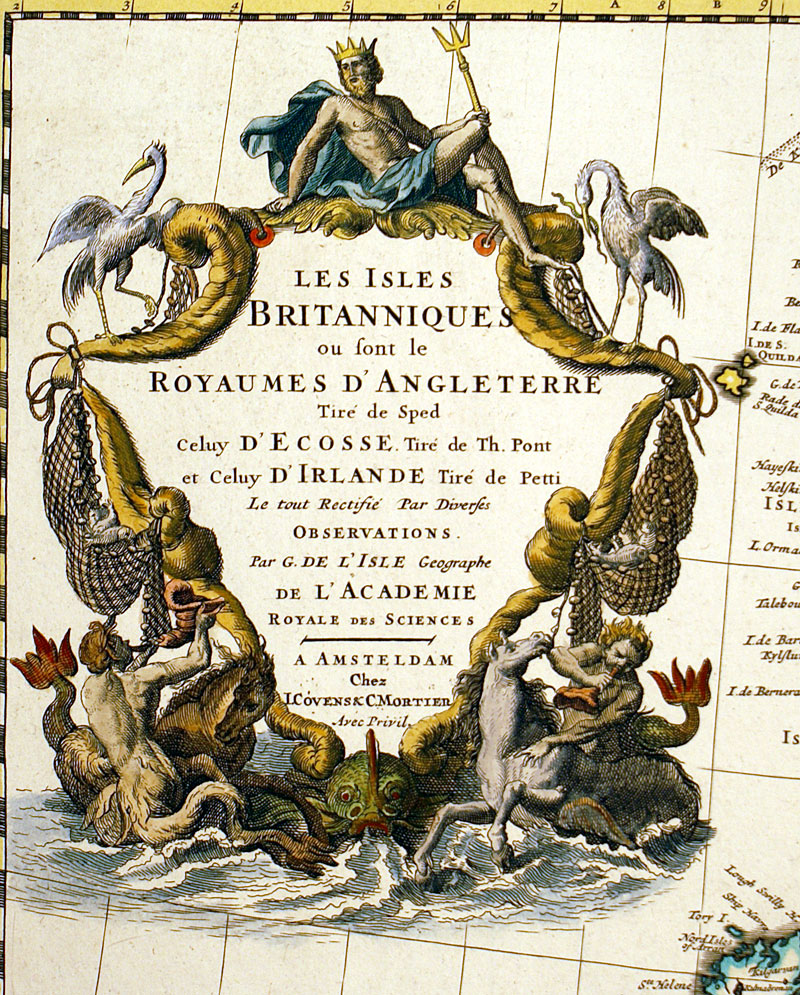 ''Les Isles Britanniques...''  c 1730 - Covens and Mortier