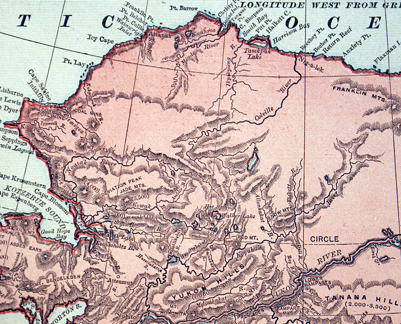 c. 1894 District of Alaska - Rand, McNally & Co.