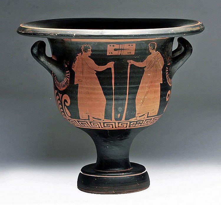 Ancient Greek Krater for Mixing Wine, Apulia - circa 350-325 BC